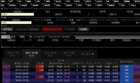 IB証券でのリアルトレード